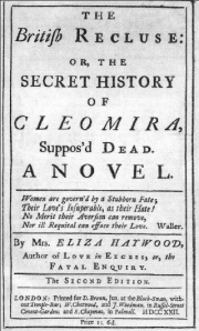 "Eliza Haywood's ""The British Recluse"""
